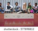 music video player multimedia... | Shutterstock . vector #577898812