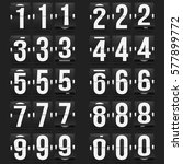 set of numbers on a mechanical... | Shutterstock .eps vector #577899772