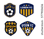 football badge and logo... | Shutterstock .eps vector #577903636