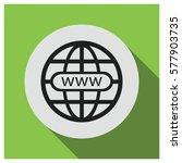 world wide web globe vector icon   Shutterstock .eps vector #577903735