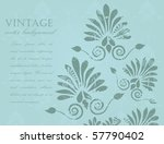 Abstract Vintage Floral...