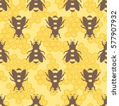 collection of bees and... | Shutterstock .eps vector #577907932
