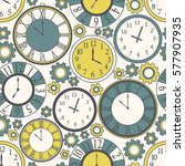 collection of clock  seamless... | Shutterstock .eps vector #577907935