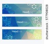 scientific set of modern vector ... | Shutterstock .eps vector #577908028