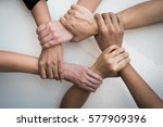 business group united hands... | Shutterstock . vector #577909396