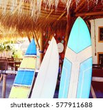 surfboard on the beach | Shutterstock . vector #577911688