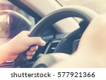 driving a car in good habit of... | Shutterstock . vector #577921366