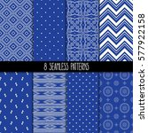 set of eight different... | Shutterstock .eps vector #577922158
