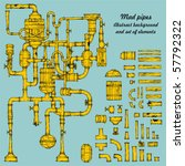 Vector Collection Of Pipe And...
