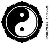 lotus yin yang sign