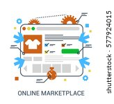 online marketplace. flat... | Shutterstock .eps vector #577924015