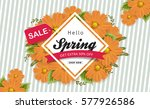 spring sale background with... | Shutterstock .eps vector #577926586