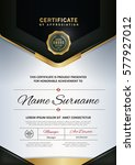 certificate template with... | Shutterstock .eps vector #577927012