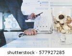 medical technology concept.... | Shutterstock . vector #577927285
