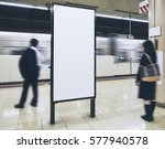 blank billboard banner in...   Shutterstock . vector #577940578