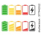 battery icon vector set... | Shutterstock .eps vector #577942312