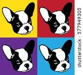 Dog French Bulldog Face Head...