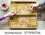 backgammon game with two dice | Shutterstock . vector #577950736