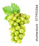 grapes isolated on white... | Shutterstock . vector #577951066