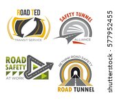 road and highway symbol set.... | Shutterstock .eps vector #577952455