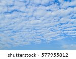 Small photo of Altocumulus cloud fluffy on blue sky beautiful in nature.