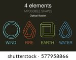 nature infographic elements on... | Shutterstock .eps vector #577958866