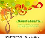 abstract autumn tree with red... | Shutterstock .eps vector #57796027