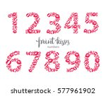 set of numbers  made from print ... | Shutterstock .eps vector #577961902