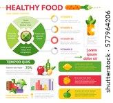 healthy food vector... | Shutterstock .eps vector #577964206
