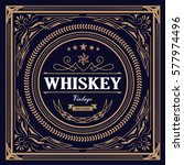 whiskey label vintage design