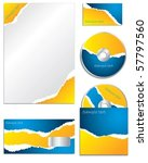 blue and orange torn business... | Shutterstock .eps vector #57797560