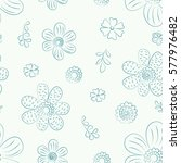 seamless monochrome floral... | Shutterstock .eps vector #577976482