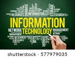 information technology word... | Shutterstock . vector #577979035