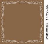 vector frame. decorative design ... | Shutterstock .eps vector #577992232