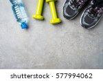 fitness background | Shutterstock . vector #577994062