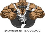 vector illustration of a strong ... | Shutterstock .eps vector #577996972