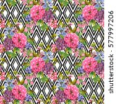 elegant seamless pattern with... | Shutterstock .eps vector #577997206