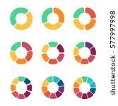 flat pie chart set in modern...   Shutterstock .eps vector #577997998