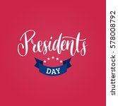 vector presidents day card.... | Shutterstock .eps vector #578008792