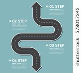 road infographic template with... | Shutterstock .eps vector #578017342