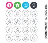 information  light bulb and... | Shutterstock .eps vector #578022106