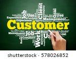 customer word cloud collage ... | Shutterstock . vector #578026852