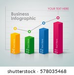 Stock vector business infographic bar chart 578035468