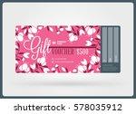 gift voucher. vector design... | Shutterstock .eps vector #578035912