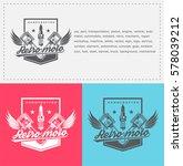 piston logo for garages ... | Shutterstock .eps vector #578039212