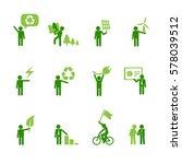 ecology people figures set. | Shutterstock .eps vector #578039512