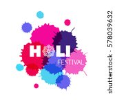 happy holi. festival of colors. ... | Shutterstock .eps vector #578039632