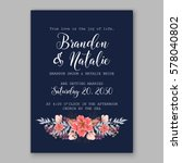 wedding invitation card with... | Shutterstock .eps vector #578040802