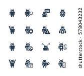 robot or bot related vector... | Shutterstock .eps vector #578043232