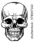 skull drawing in a vintage... | Shutterstock .eps vector #578047162